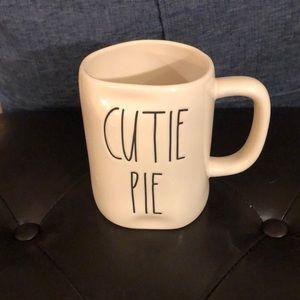 """Rae Dunn White """"Cutie Pie"""" Mug"""